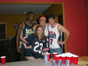 HA! Chi town in Cail Jersey Beer Pong.  (age 24)
