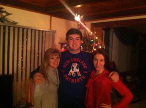 Mom, My brother, and Me last xmas 2013