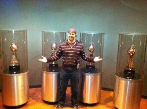 The husband and Greenbay's trophies grrrr